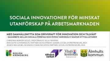 Sociala innovationer för minskat utanförskap på arbetsmarknaden - Clean Car Service