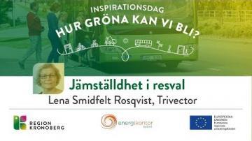 Inspirationsdag - Hur gröna kan vi bli?, Jämställdhet i resval