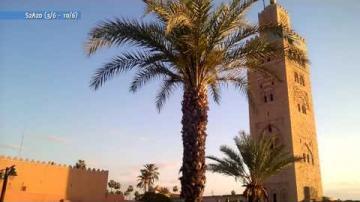Koutoubia-moskén i Marrakesh Marocko, ur Veckomagasinet S2A20