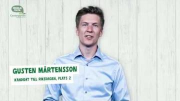 Val 2018 - Fem snabba frågor till Gusten Mårtensson (C)