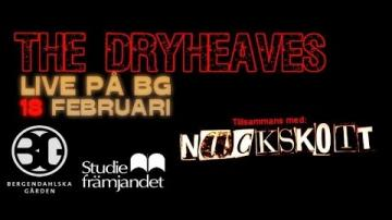 Konsert/BG med The Dryheaves och Nackskott 2016