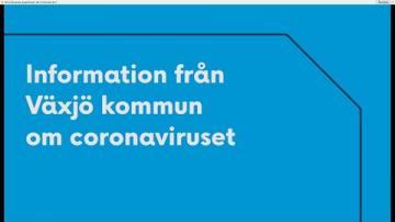 Kommunen informerar om covid-19 på Svenska