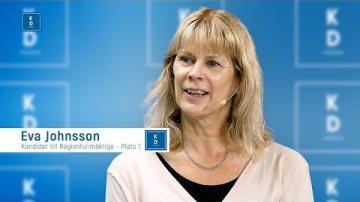 Val 2018 - Patrik Åkesson intervjuar Eva Johansson (KD)