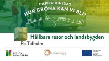 Inspirationsdag - Hur gröna kan vi bli?, Hållbara resor och landsbygden