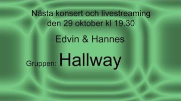 Edvin & Hannes, och gruppen Hallway från Universitetet